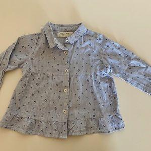 ZARA babygirl long sleeve shirt